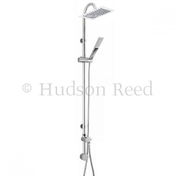 Hudson Reed Merit Riser Kit with Concealed Outlet Elbow - Chrome - A3112
