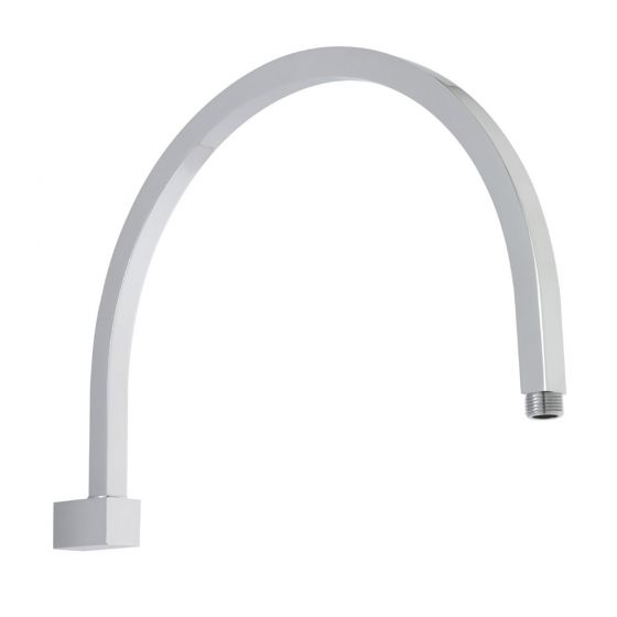 Premier - Curved Wall Mounted Shower Arm - 362mm Length - ARM43