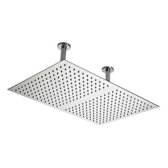 Hudson Reed Rectangular Dual Ceiling Mounted Shower Head 600 x 400mm- Stainless Steel - HEAD66