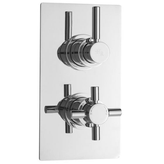 Hudson Reed Tec Pura Concealed Twin Shower Valve with Built-in Diverter