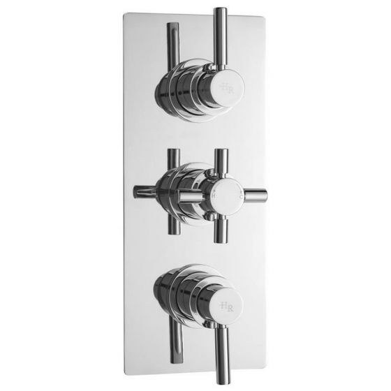 Hudson Reed Tec Pura Plus Concealed Thermostatic Triple Shower Valve with Diverter