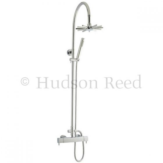 Hudson Reed Quadro Thermostatic Bar Valve with Infinity Shower Kit - Chrome