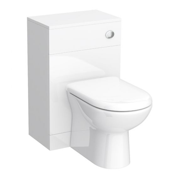 Alaska 500mm BTW Toilet Unit Inc. Cistern + Soft Close Seat (Depth 300mm)