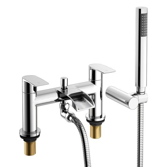 Denver Waterfall Bath Shower Mixer Tap with Hand Held Shower He
