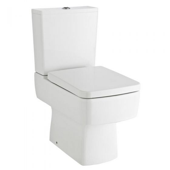 Bliss Close Coupled Complete Toilet & Standard Top Fix Seat