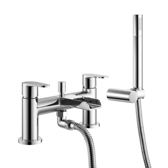 Cela Waterfall Bath Shower Mixer Tap with Hand Held Shower Head