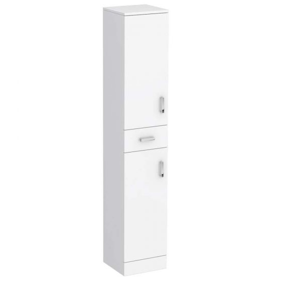 Cove White 350mm Gloss Tallboy Unit - Depth 330mm