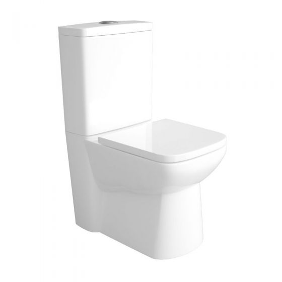 Hudson Reed - Compact Back To Wall Close Coupled Toilet with Top Fix Soft Close Seat - CPC002