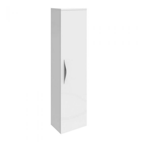 Hudson Reed Memoir 1 Door Wall Mounted Tall Unit - Gloss White - FME014