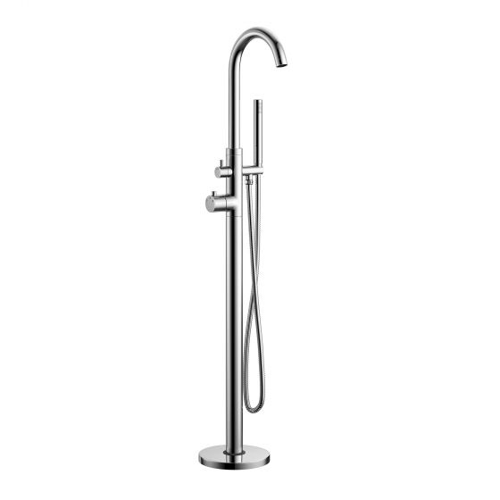 Gladstone Freestanding Thermostatic Bath Mixer Tap with Hand Hel