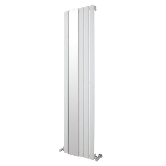 Premier - Seville Flat Panel Radiator with Mirror 1800 x 425mm - White - HLW103