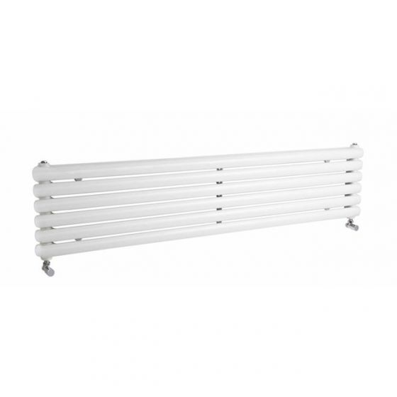 Hudson Reed  - Salvia Horizontal Double Panel Radiator - 383 x 1500mm - White
