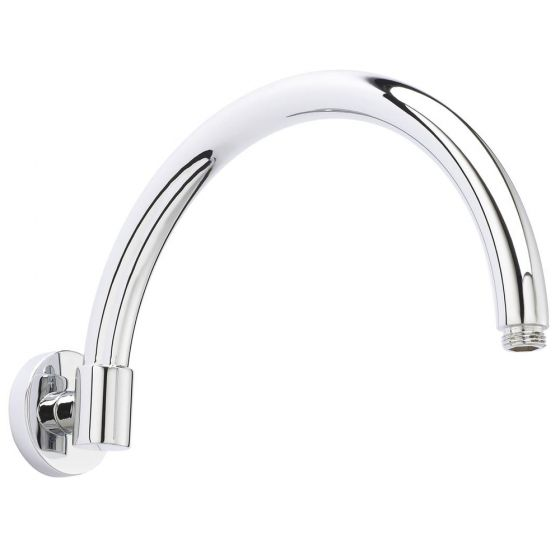 Hudson Reed Curved Wall Mounted Shower Arm - Chrome - ARM06