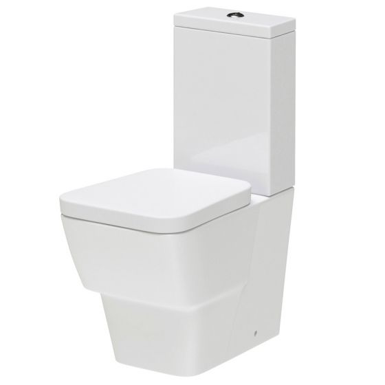 Hudson Reed Farnham BTW close coupled pan & cistern with soft close seat - CFA003