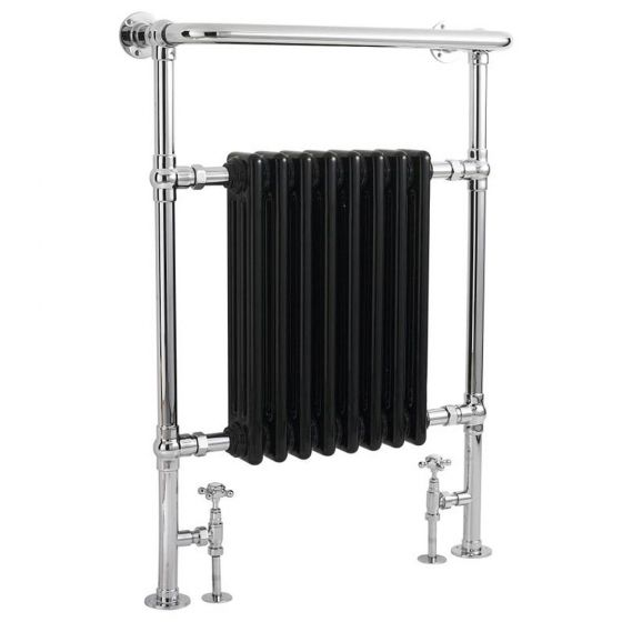 Hudson Reed Traditional Marquis Heated Towel Rail - Black - HT702