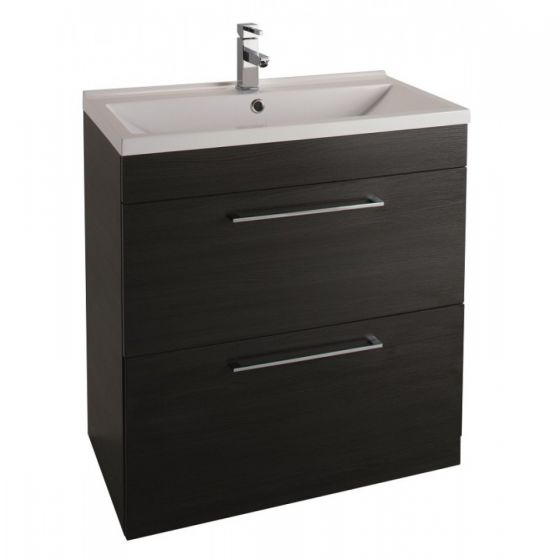 Icon Black 800mm Free Standing Drawer and basin Unit