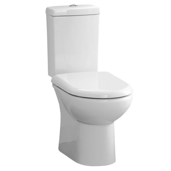 Knedlington Short Projection Cloakroom Toilet with Seat