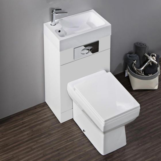 Kyoto Combined Two-In-One Wash Basin & Toilet (500mm wide x 300mm)