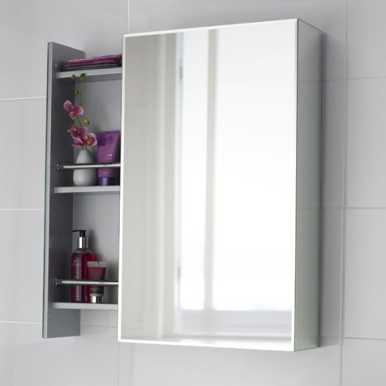 Premier - Intrigue Side Opening Mirrored Cabinet - H750 x W460mm - LQ039