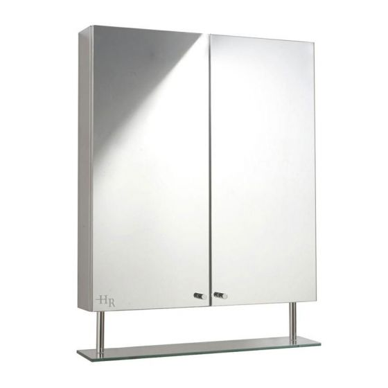 Hudson Reed Dakota Stainless Steel Double Mirror Cabinet - LQ316