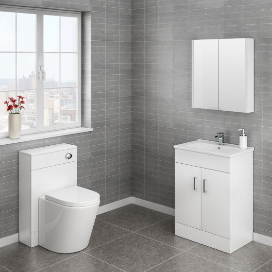 Turin Cloakroom Suite (White Gloss)