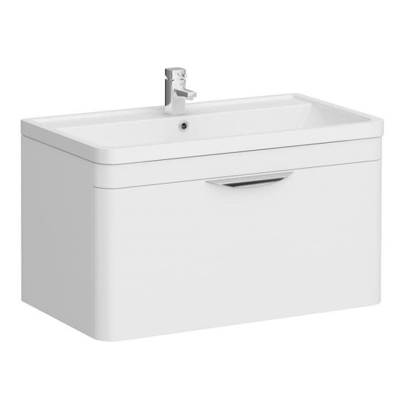 Monza Wall Hung 1 Drawer Vanity Unit with Basin W800 x D445mm