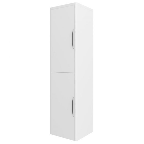 Monza Wall Mounted Tall Cupboard - High Gloss White W350 x D250mm - FPA009