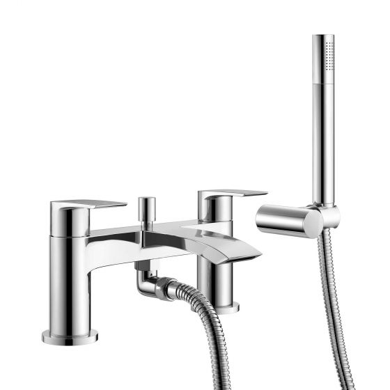 Melbourne Bath Shower Mixer Tap with Hand Held Shower Head