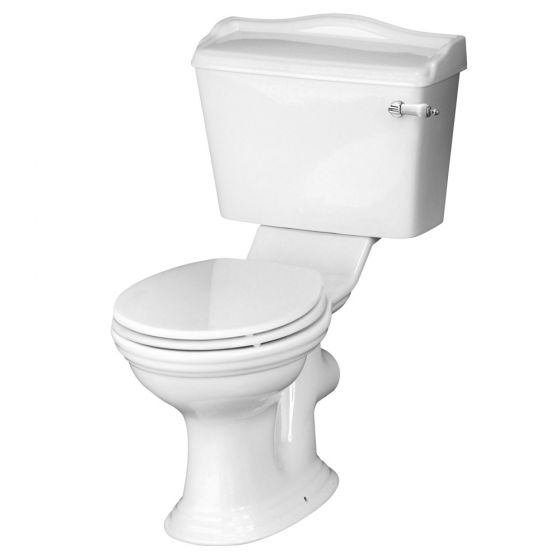Old London - Chancery Traditional Close Coupled Toilet with Ceramic Lever Flush