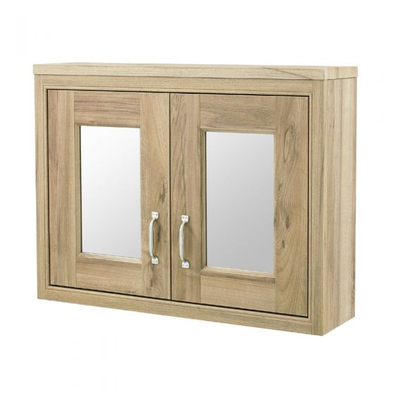 Old London - 800 Mirror Cabinet - Natural Walnut - NLV515