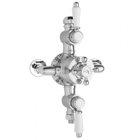 Old London - Chrome Traditional Triple Exposed Valve - LDNV12
