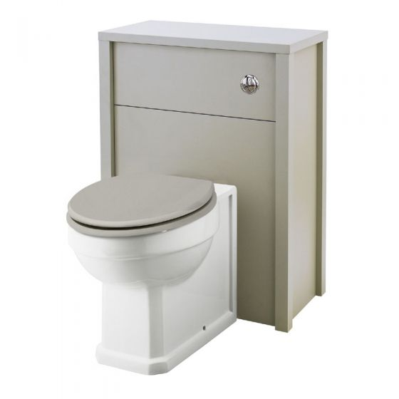 Old London - 600 Back to wall WC Unit - Stone Grey - NLV443