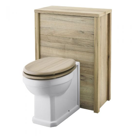 Old London - 600 Back to wall WC Unit - Natural Walnut - NLV543