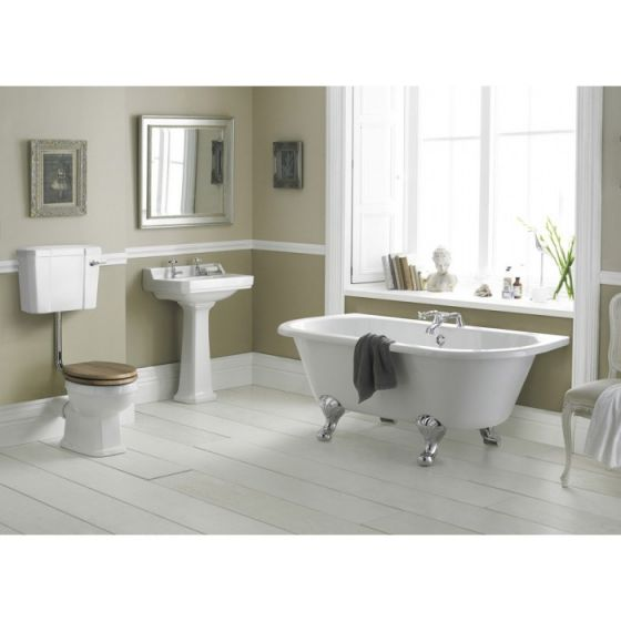 Old London Richmond 1TH Low Level Bathroom Suite with Back To Wall Bath