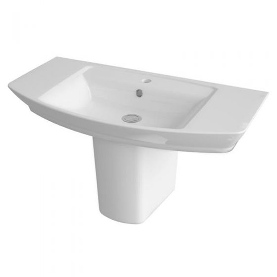 Premier Clara Basin & Semi Pedestal (850mm Wide - 1 Tap Hole)