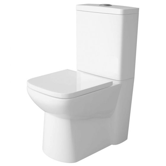 Premier - Ambrose Short Projection 585mm Toilet with Soft Close Seat