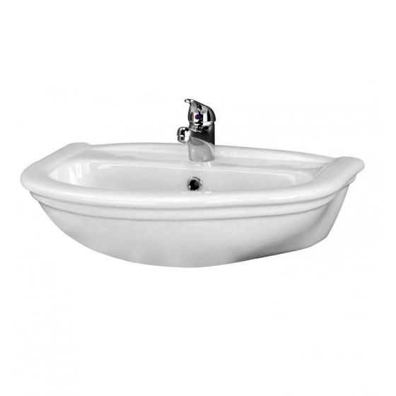 Premier Barmby Wall Hung Basin + Fixings - 600mm Wide
