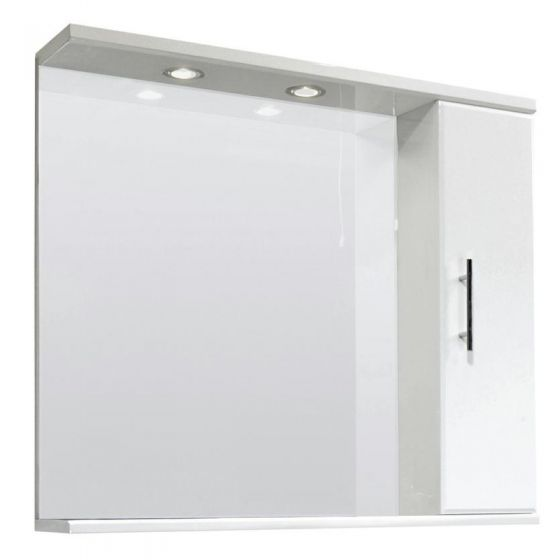 Premier Mayford High Gloss White Illuminated Mirror Cabinet W850 x D170mm - VTY027