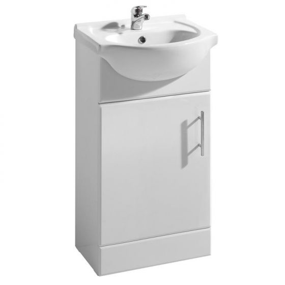 Premier Mayford Gloss White Vanity Unit with Basin W450 x D300mm - VTY450