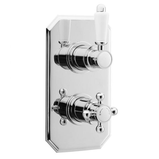 Premier Edwardian Twin Concealed Thermostatic Shower Valve - ITY316