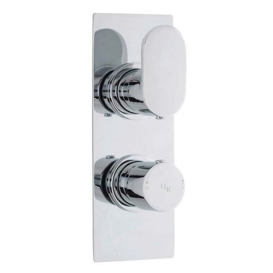 Hudson Reed Reign Twin Concealed Thermostatic Shower Valve w/ Diverter - Square Plate - REI3207