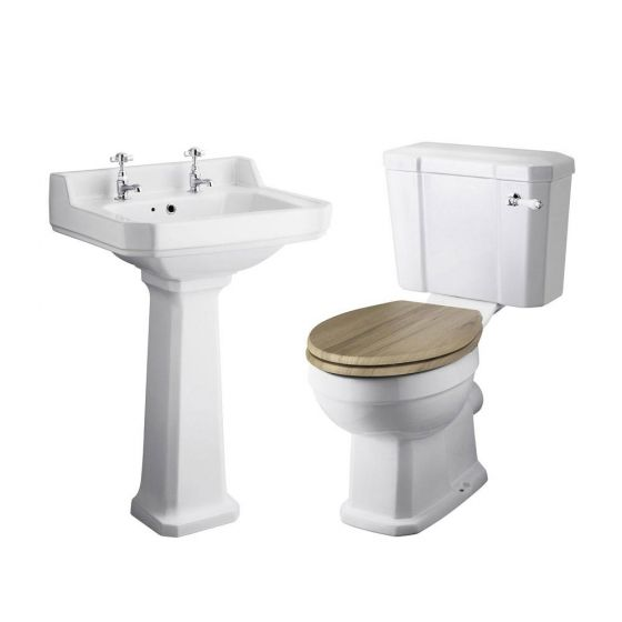 Old London Richmond Close Coupled Traditional Bathroom Suite - 2 Tap Hole