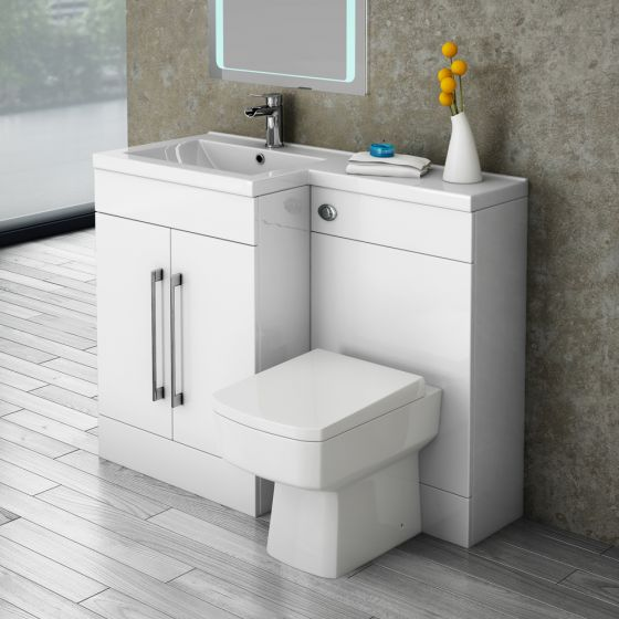 Valencia Combination Bathroom Unit with Square Toilet - 1100mm (Left Hand)