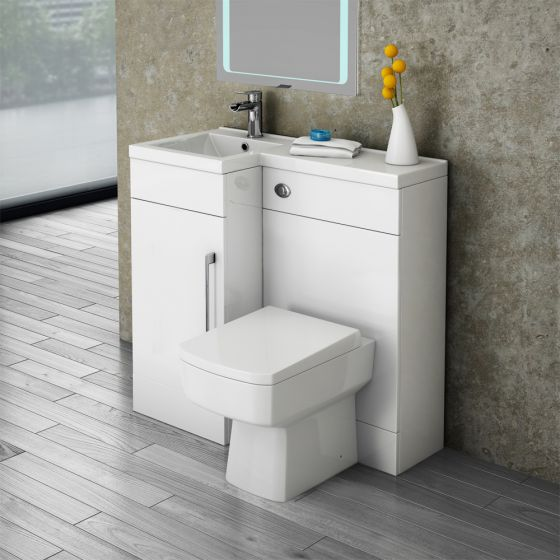 Valencia Combination Bathroom Unit with Square Toilet - 900mm (Left Hand)