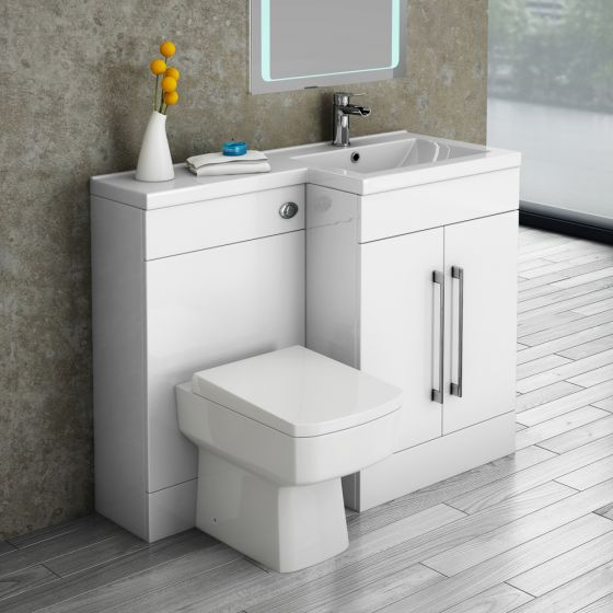 Valencia Combination Bathroom Unit with Square Toilet - 1100mm (Right Hand)