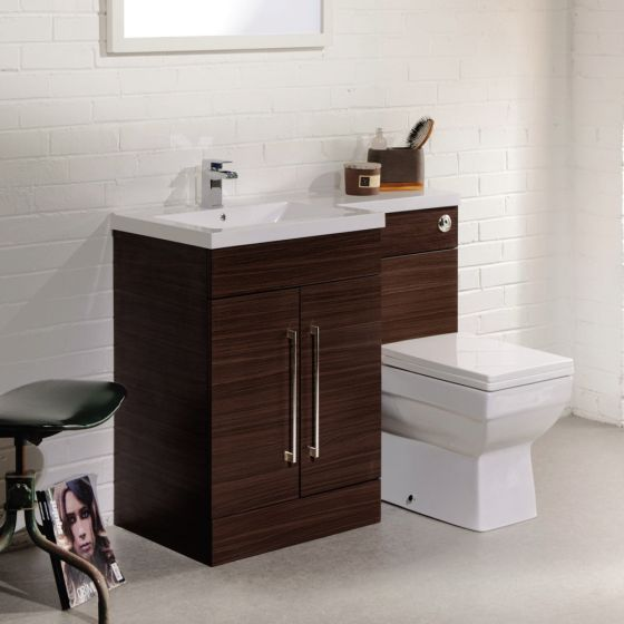 Alaska BTW WC Unit (High Gloss White - Depth 330mm) - 2 Size Options