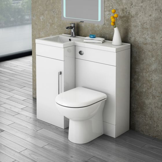 Valencia 900 Combination Basin & WC Unit with Round Toilet - Left Hand