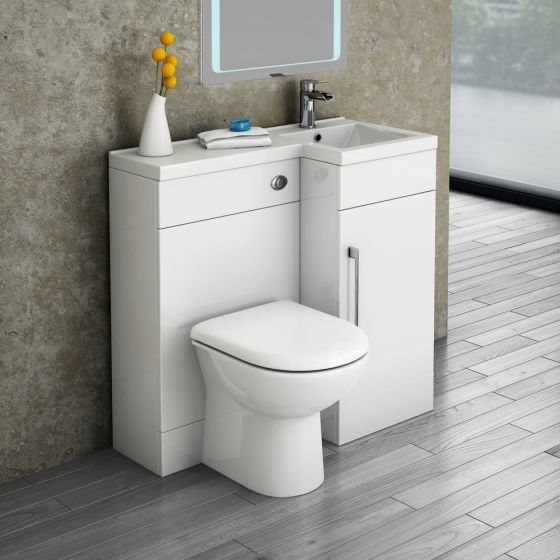 Valencia 900 Combination Basin & WC Unit with Round Toilet - Right Hand