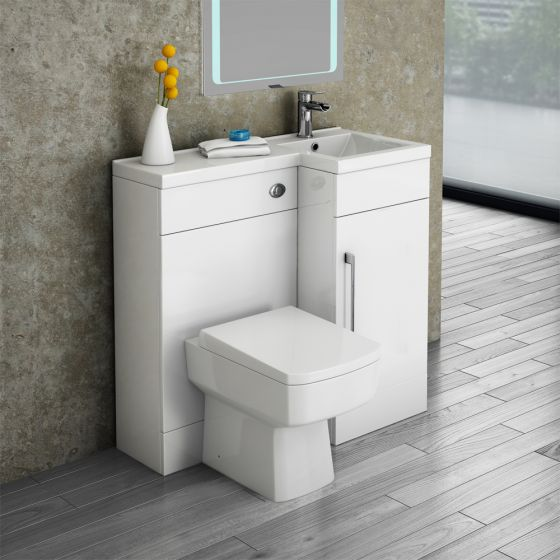 Valencia Combination Bathroom Unit with Square Toilet - 900mm (Right Hand)