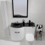 Pebble Series Combined Toilet and Basin Unit Left